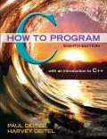 EBK C HOW TO PROGRAM - 8th Edition - by Deitel - ISBN 8220100663833
