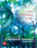 EBK FUNDAMENTALS OF CORPORATE FINANCE - 11th Edition - by Ross - ISBN 8220102801356