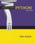 EBK STARTING OUT WITH PYTHON - 2nd Edition - by GADDIS - ISBN 9780133001426