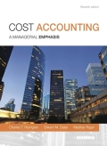 Cost Accounting - 15th Edition - by Horngren - ISBN 9780133428834