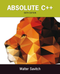 EBK ABSOLUTE C++ - 6th Edition - by SAVITCH - ISBN 9780133970944