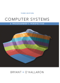 Computer Systems: A Programmer's Perspective (3rd Edition) - 3rd Edition - by Bryant - ISBN 9780134092997