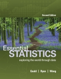 Essential Statistics - 2nd Edition - by Gould,  Robert / Ryan,  Colleen N. / Wong,  Rebecca - ISBN 9780134133546