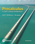 Precalculus: A Unit Circle Approach (3rd Edition) - 3rd Edition - by Ratti - ISBN 9780134465203