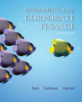 Fundamentals of Corporate Finance (4th Edition) (Berk  DeMarzo & Harford  The Corporate Finance Series) - 4th Edition - by Berk - ISBN 9780134476124