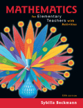 EBK MATHEMATICS FOR ELEMENTARY TEACHERS - 5th Edition - by Beckmann - ISBN 9780134506609