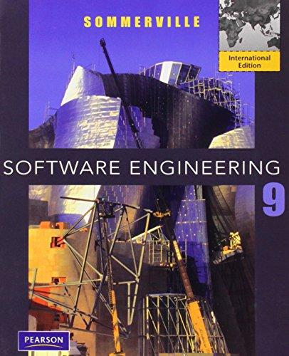 Software Engineering >INTERNATIONAL EDITION < - 9th Edition - by SOMMERVILLE - ISBN 9780137053469