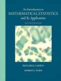 EBK INTRODUCTION TO MATHEMATICAL STATIS - 5th Edition - by Marx - ISBN 9780321831460
