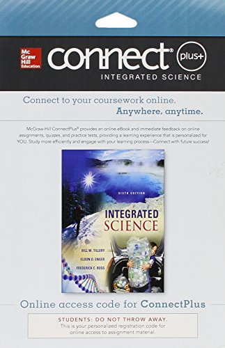 Connect Access Card For Integrated Science 6e - Media Update - 6th Edition - by Bill W Tillery, Eldon Enger, Frederick C Ross - ISBN 9781259288807