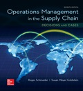 OPERATIONS MANAGEMENT IN THE SUPPLY CHAIN: DECISIONS & CASES (Mcgraw-hill Series Operations and Decision Sciences) - 7th Edition - by SCHROEDER - ISBN 9781259326738
