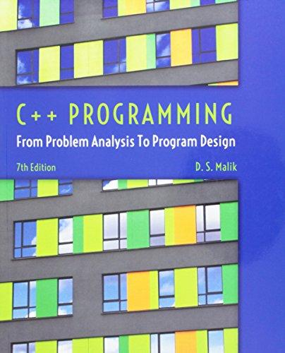 C Programming From Problem Analysis To Program Design 8th Edition Textbook Solutions Bartleby